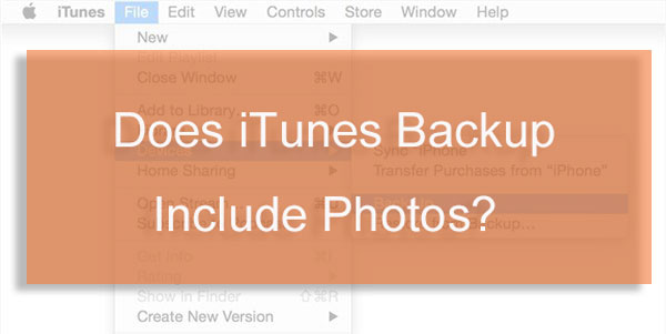does itunes backup photos