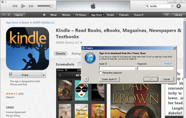 how to download purchased kindle book to ipad