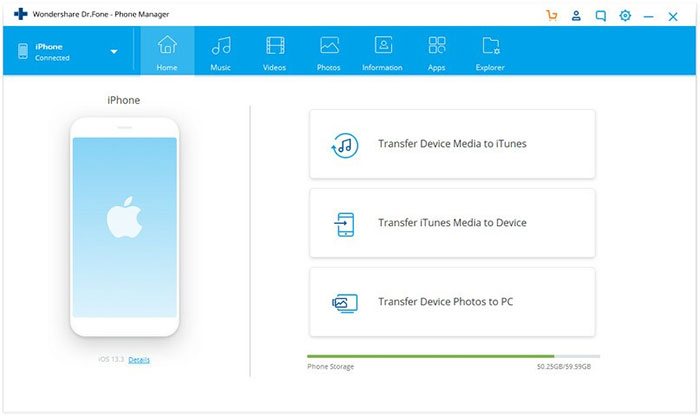 iphone manager for pc and mac like drfone phone manager for ios