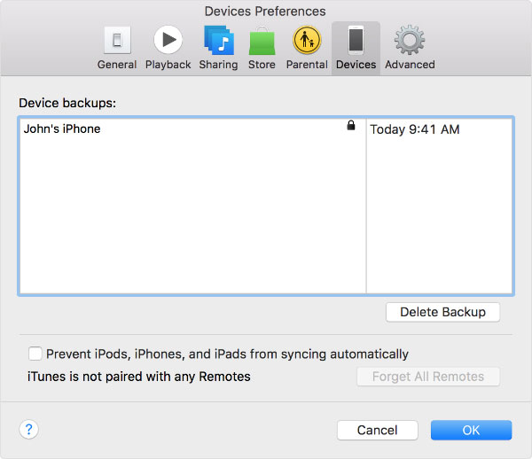 check if itunes backup is encrypted or not