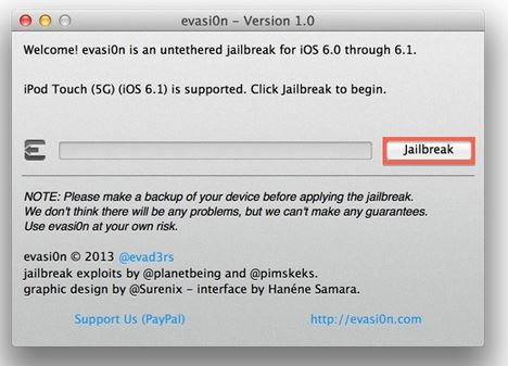 jailbreak iphone with evasion