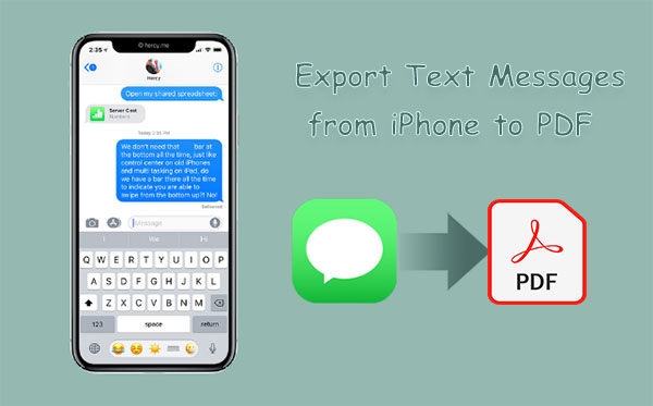 export text messages from iphone to pdf
