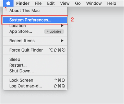 click system preferences on mac