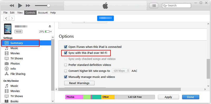 How to Sync iPod to iTunes via WiFi