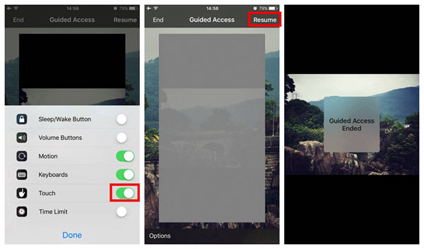 how to freeze screen of iphone