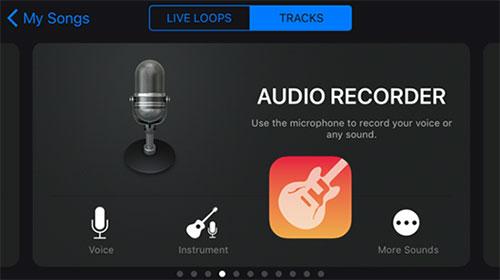 click the audio icon