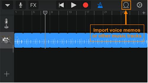 import voice memos to garageband