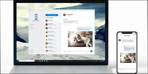 get iphone text messages on windows 10
