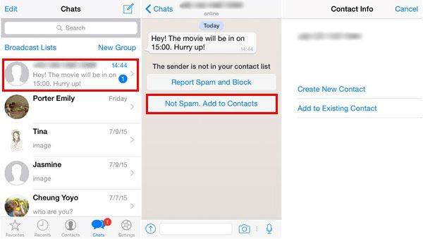 how to sync iphone contacts to whatsapp