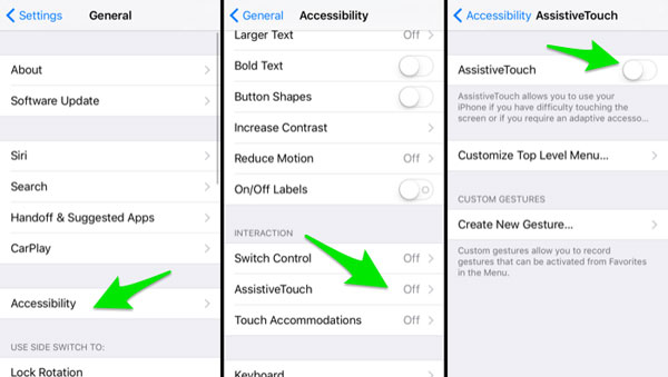 enable assistive touch on iphone
