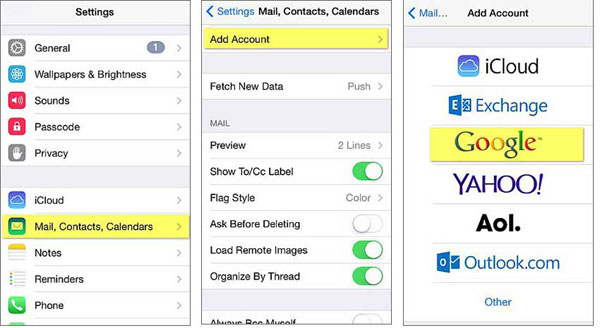 How to Sync Gmail Contacts to iPhone?