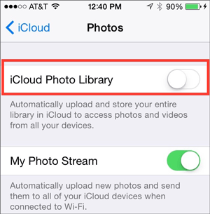 how to transfer photos from iphone to ipad using icloud