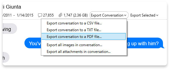 how to export imessages to pdf from iphone with iexplorer