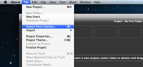 upload videos from iphone to imovie on mac