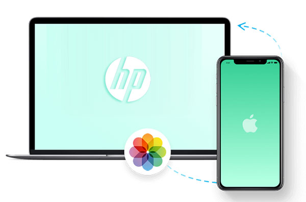 how to import photos from iphone to hp laptop