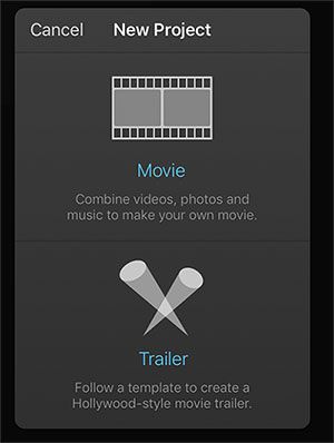 import videos from iphone to imovie on iphone