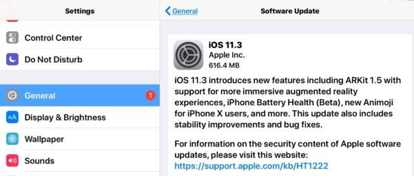 download install ios 12