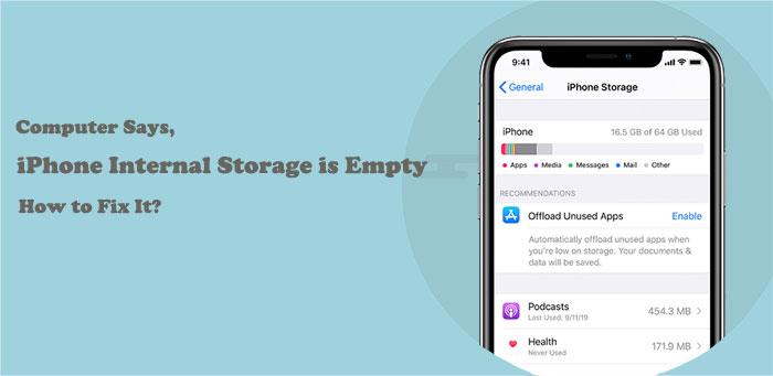 iphone internal storage empty