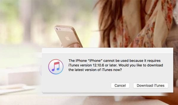 iphone cannot be used because it requires a newer version of itunes windows
