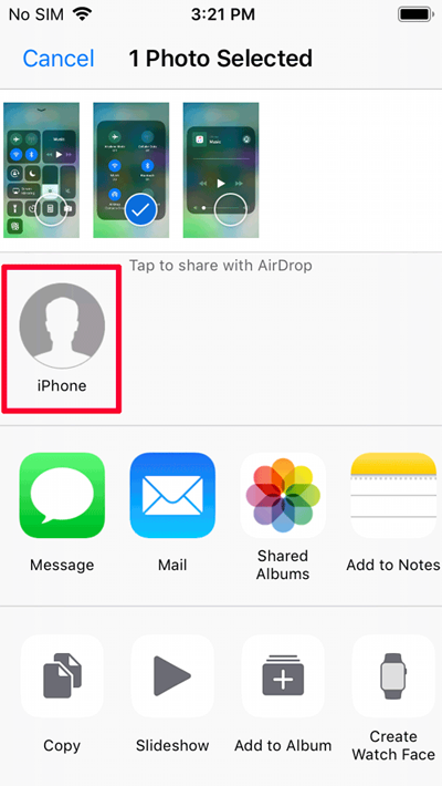 how to airdrop pictures from iphone to ipad
