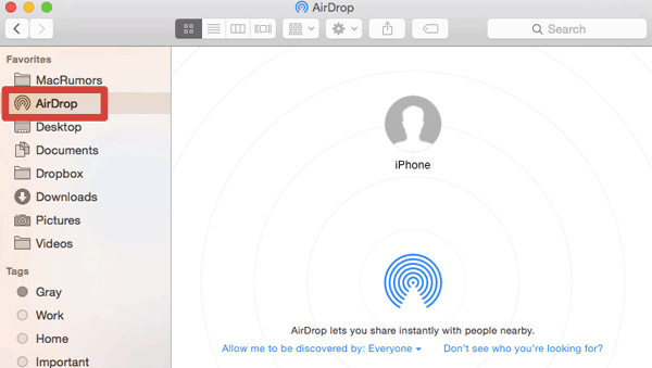 transfer from iphone to mac with airdrop