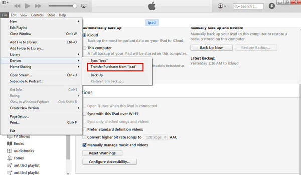 how to get videos from ipad to mac with itunes