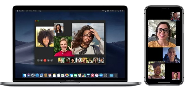 do group facetime on mac device