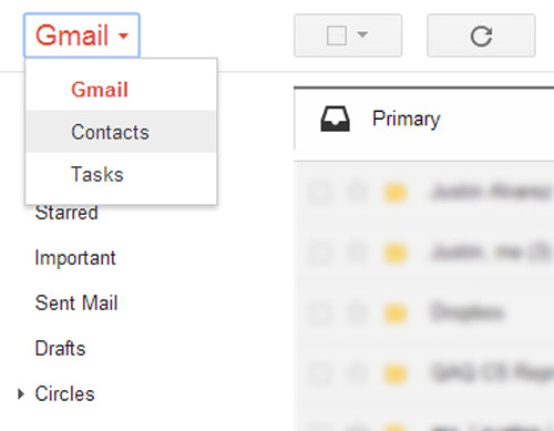 sync contacts from gmail to iphone