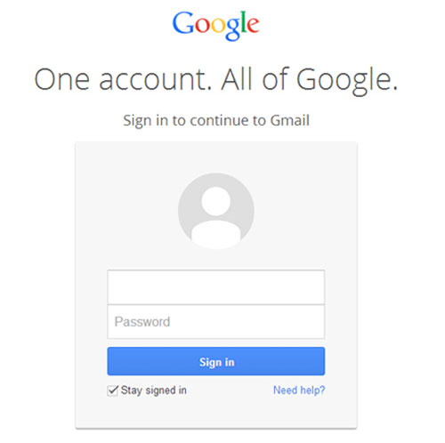 sign in your gmail account