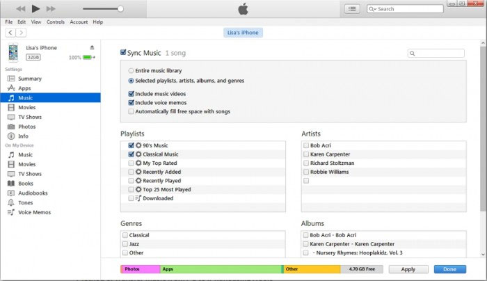 how to transfer music from mac to iphone via itunes