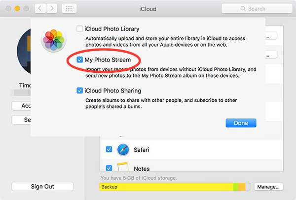 access icloud photo on photo stream on mac