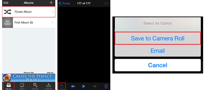 transfer videos from pc to iphone camera roll