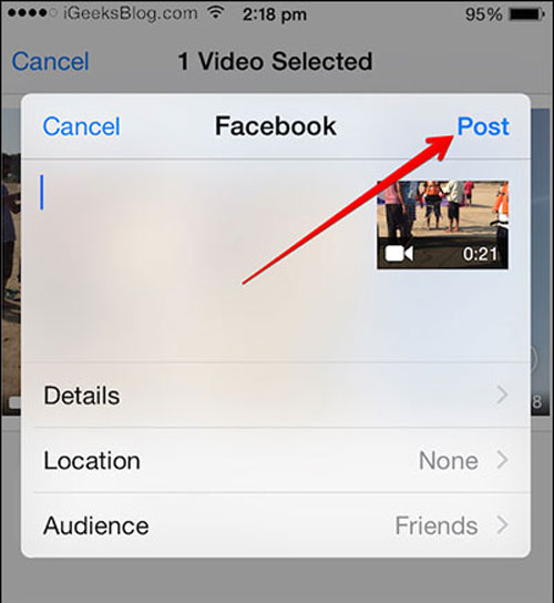 how to post videos on facebook
