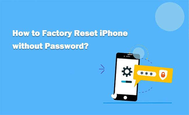 reset iphone without password