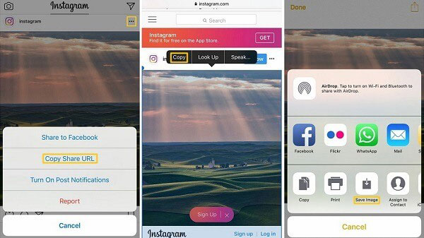 how to copy instagram pictures to iphone