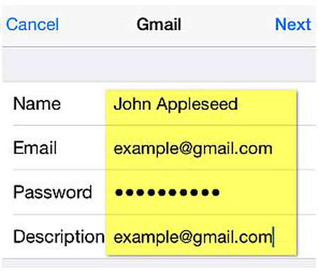 how to sign in gmail on iphone