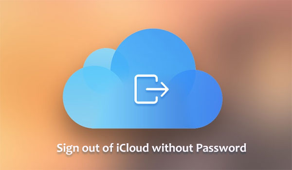 sign out of icloud without password