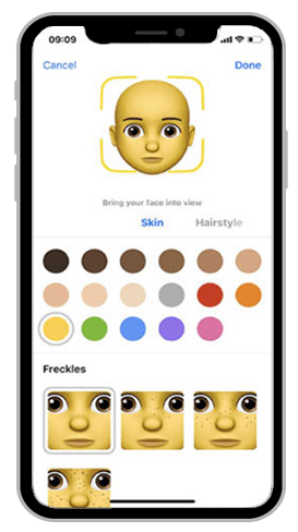 memoji skin color
