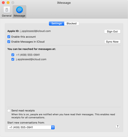 sync messages from icloud to mac