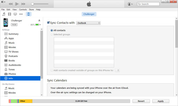 sync iphone contacts with outlook