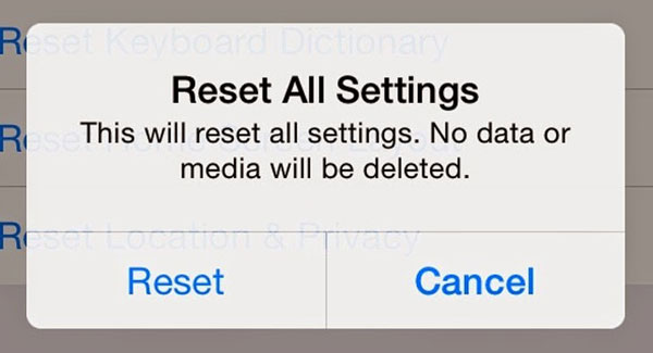 reset all settings iphone tips about quot reset all settings quot on iphone 2999
