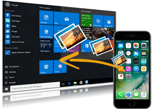 how to transfer photos from iphone to pc windows 10