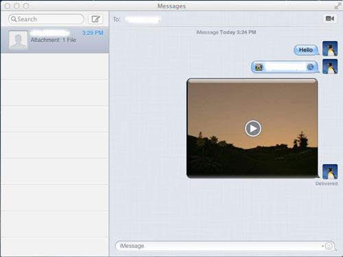put video on ipad from mac via imessage