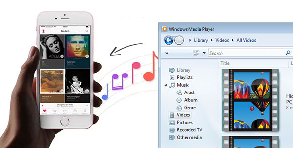 transfer music from windows media player to iphone