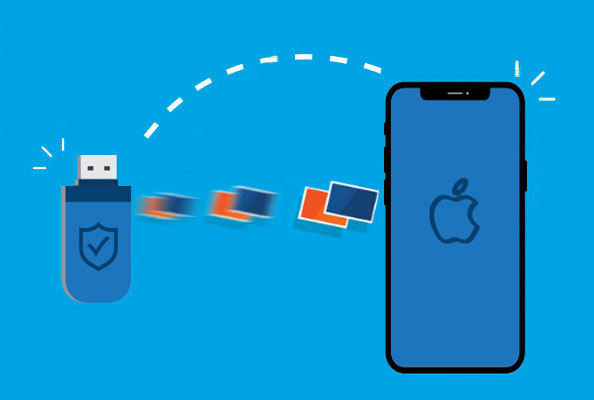 transfer photos from flash drive to iphone
