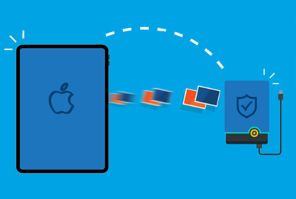 how to transfer photos from ipad to external hard drive