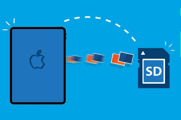 transfer photos from ipad to sd card