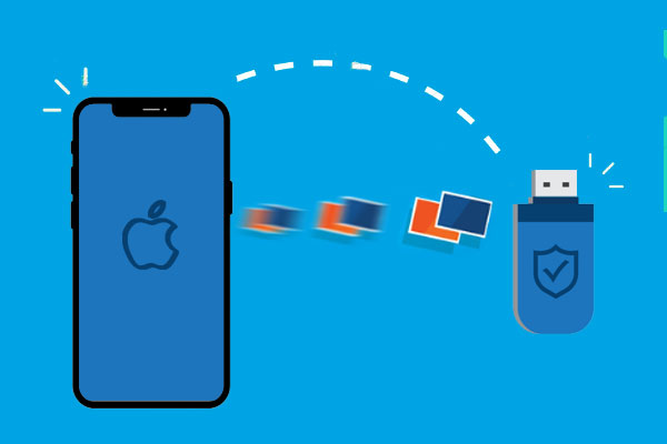 transfer photos from iphone to flash drive