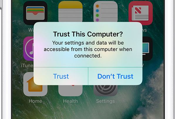 trust a computer on iphone