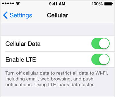 use cellular data to surf internet